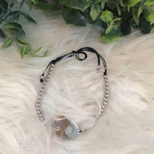 5 For $15 Adjustable SilverTone Keyhole Bracelet